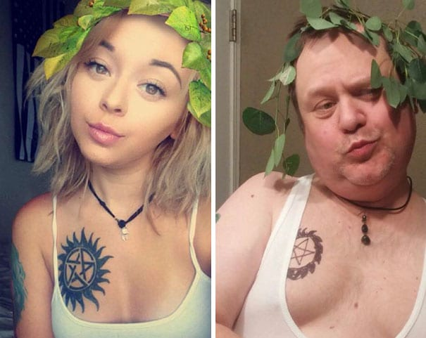 pere-recree-selfie-fille