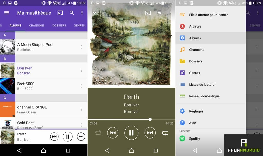 sony xperia x application musique