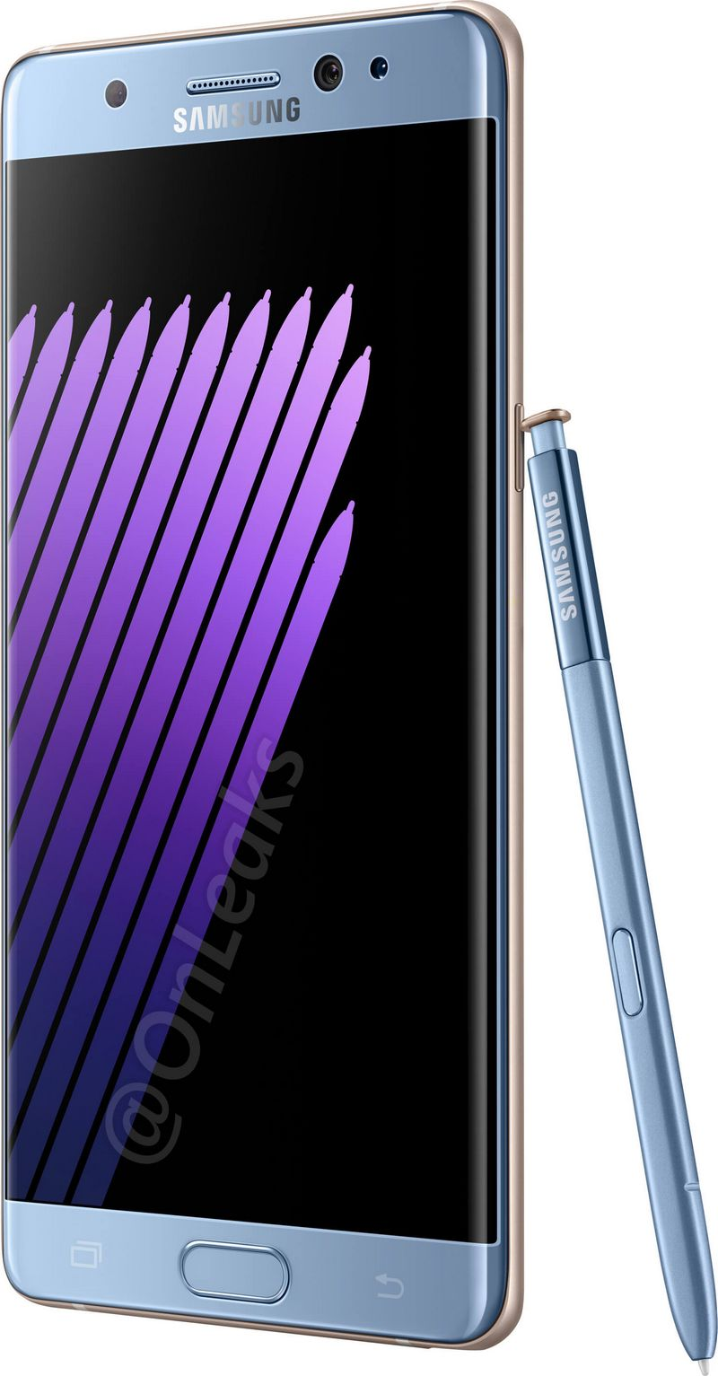 galaxy note 7 bleu