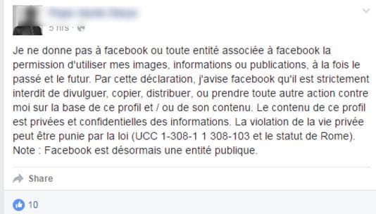 facebook vie privee