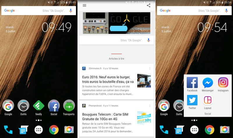 mon android google now launcher