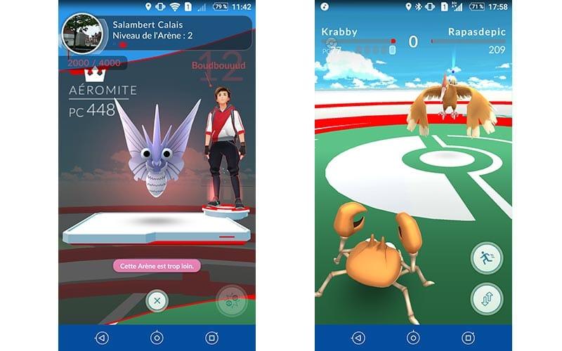 Pokémon Go Arènes