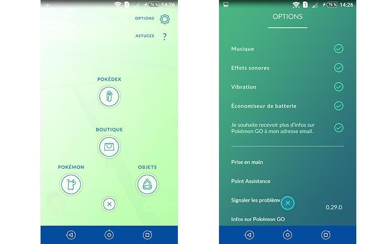 Pokémon Go batterie