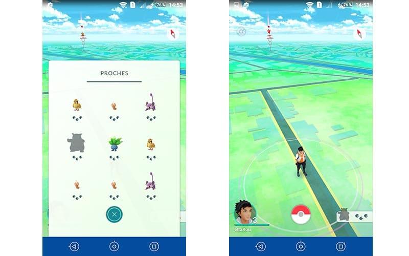 Pokémon Go chasse