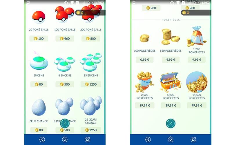 Pokémon Go objets