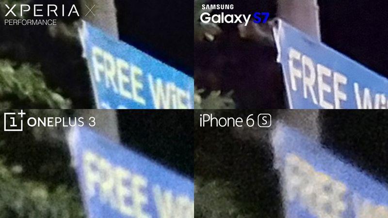 Sony Xperia X Performance test photo nuit