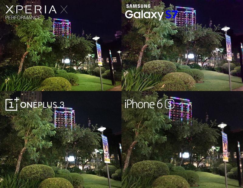 Sony Xperia X Performance photo nuit