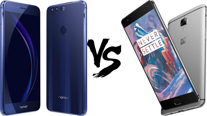 honor 8 vs oneplus 3