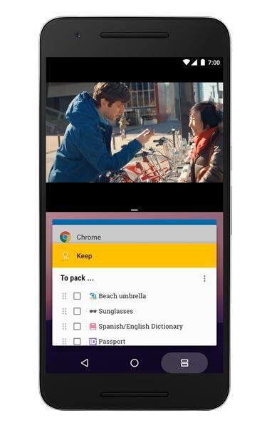 Android 7 0 nougat toutes les nouveaut s de la derni re for Multi fenetre android