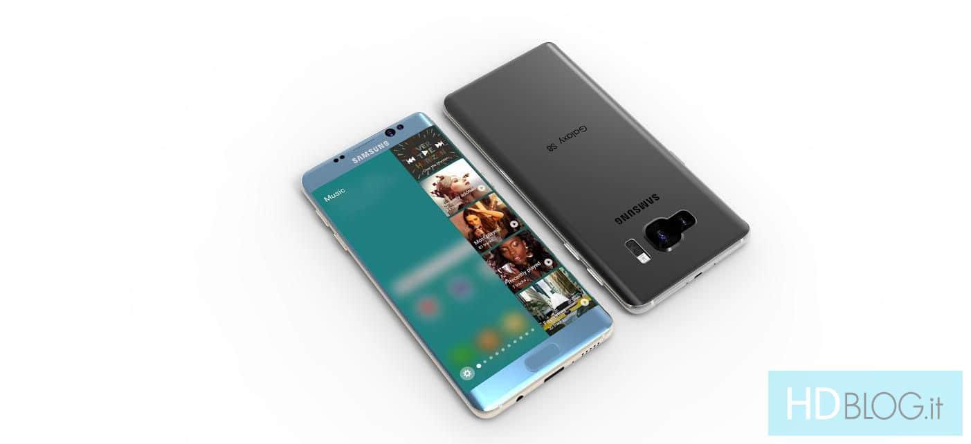 Galaxy s8 un super concept avec cran 4k dual edge et for Photo ecran galaxy s8
