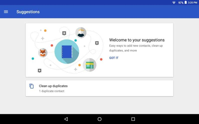 google contacts suggestions