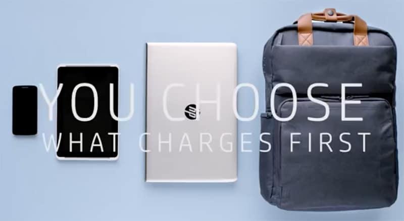 hp powerup backpack sac batterie
