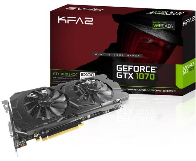 carte graphique kfa2 geforce gtx 1070