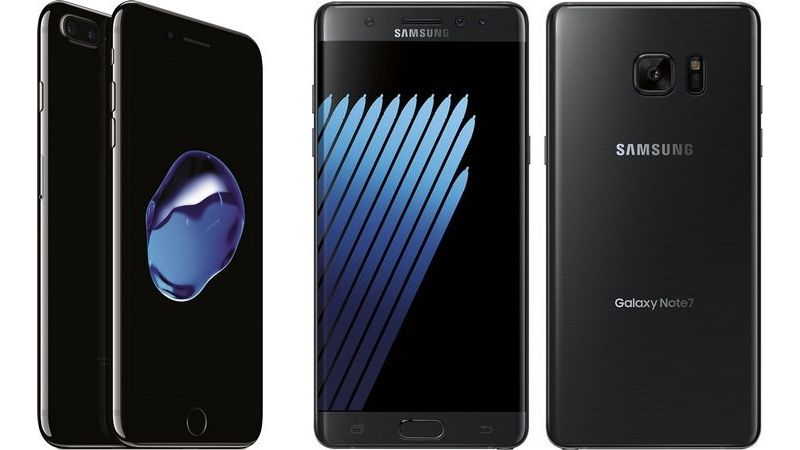 comparatif iphone 7 plus galaxy note 7