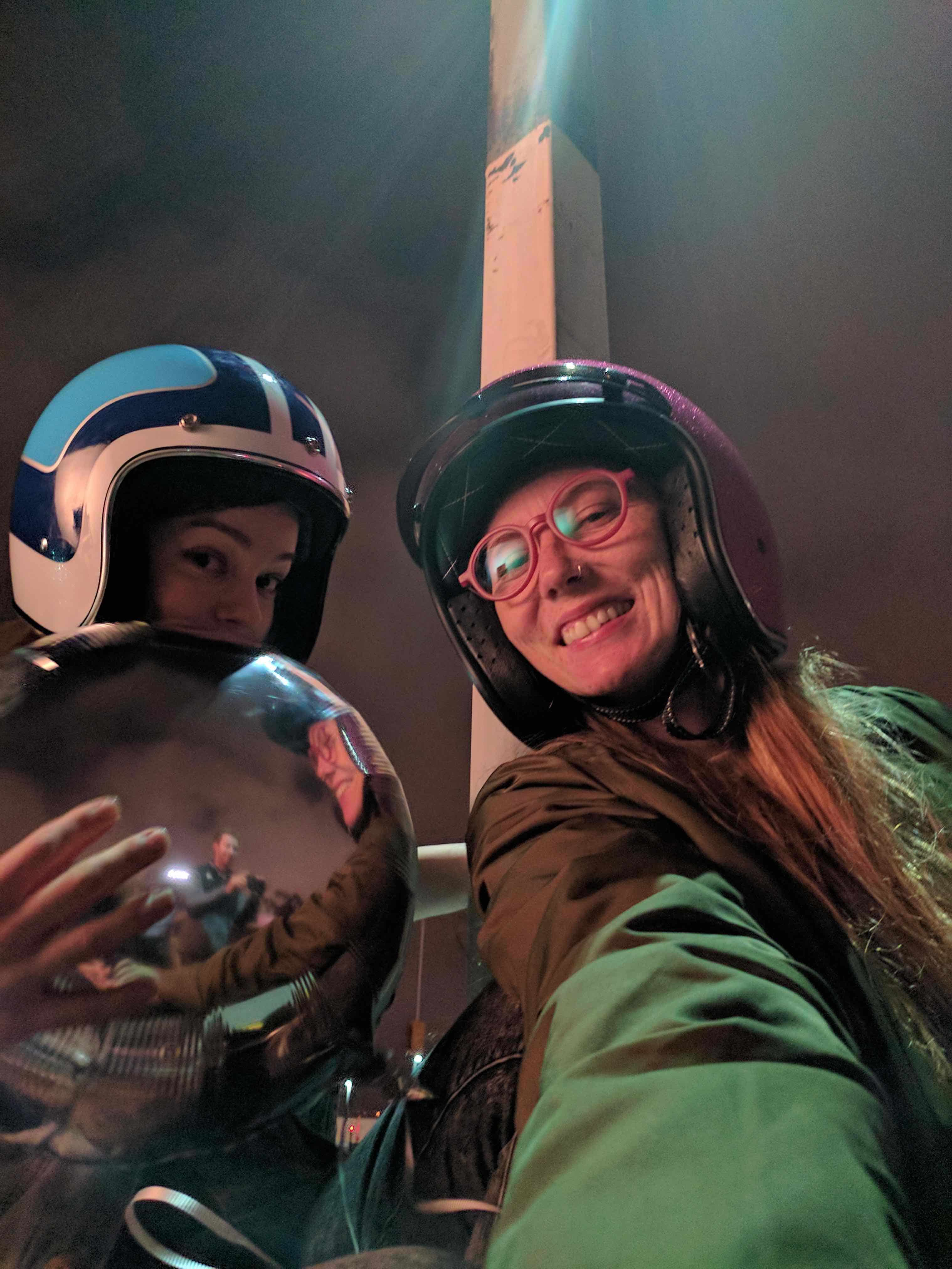 Selfie en basse luminosité