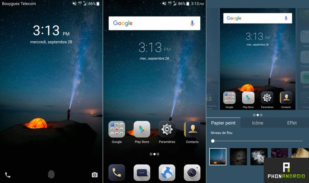 interface zte axon 7