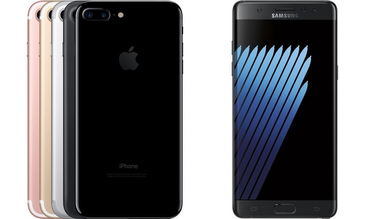 iphone 7 galaxy note 7
