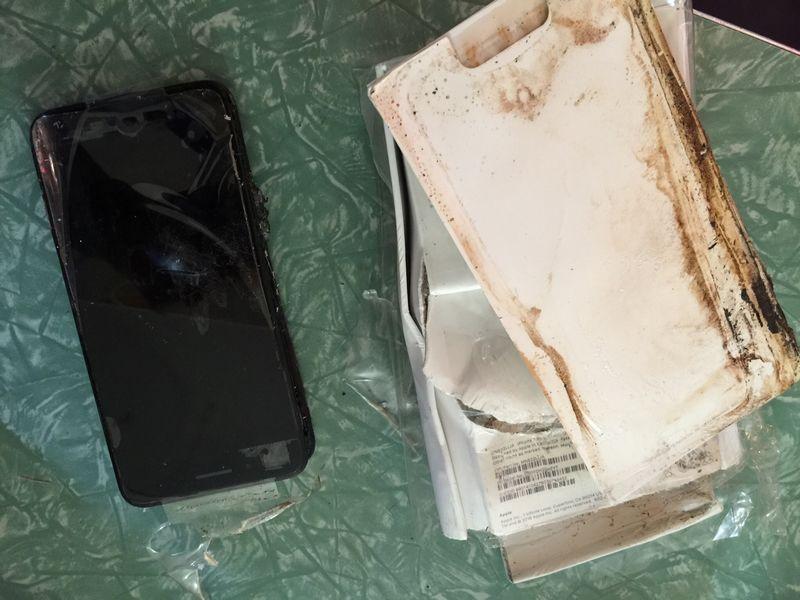 iphone 7 plus explosion