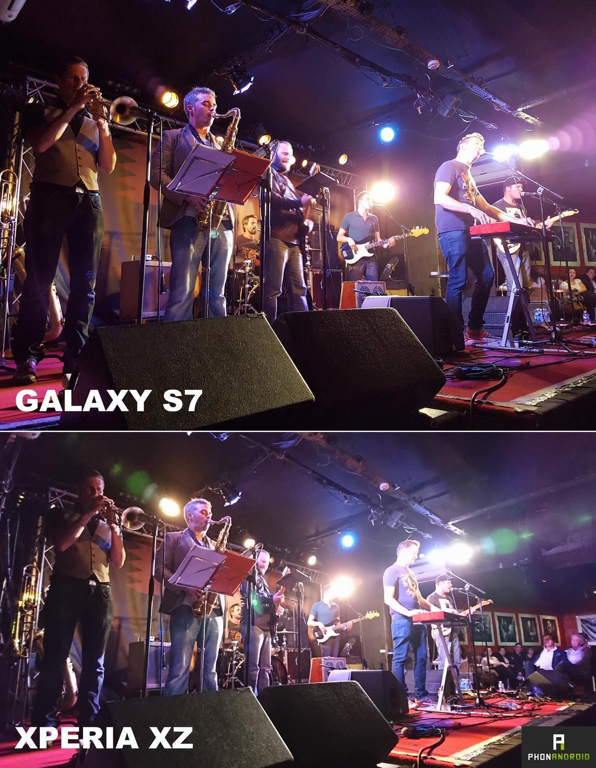 photo galaxy s7 sony xperia xz
