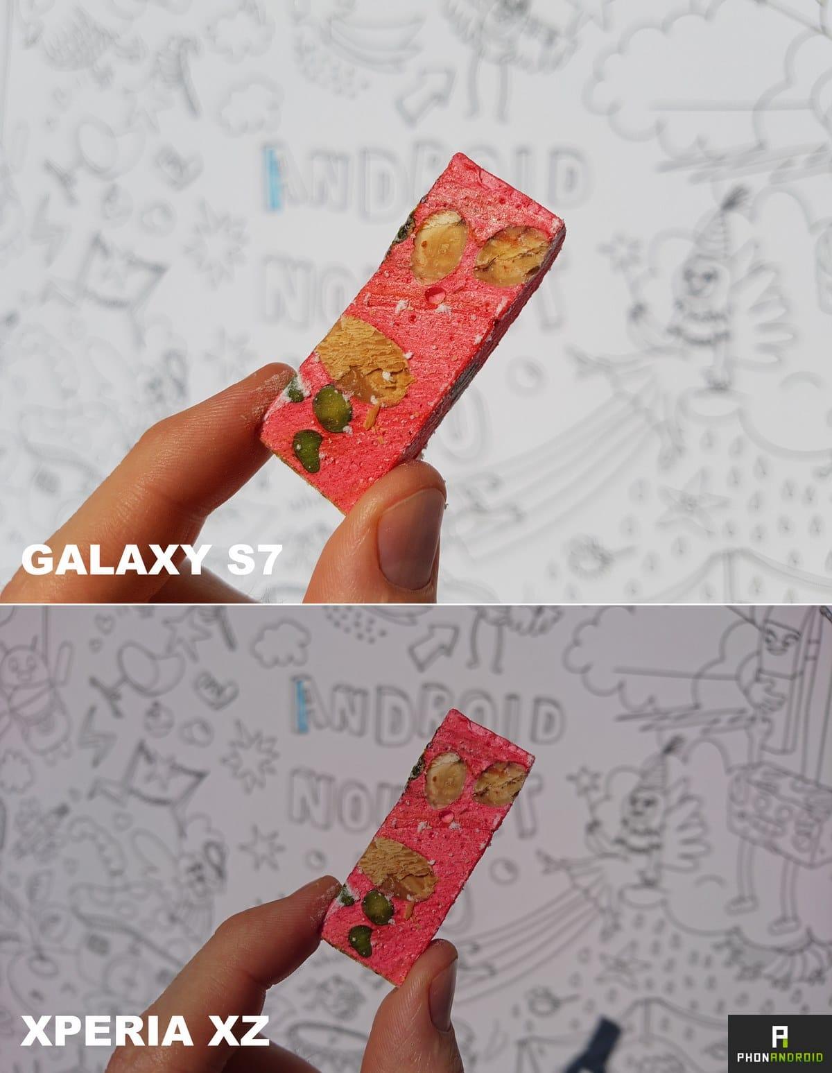 photo galaxy s7 xperia xz
