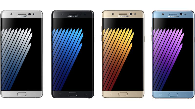 samsung galaxy note 7 coloris