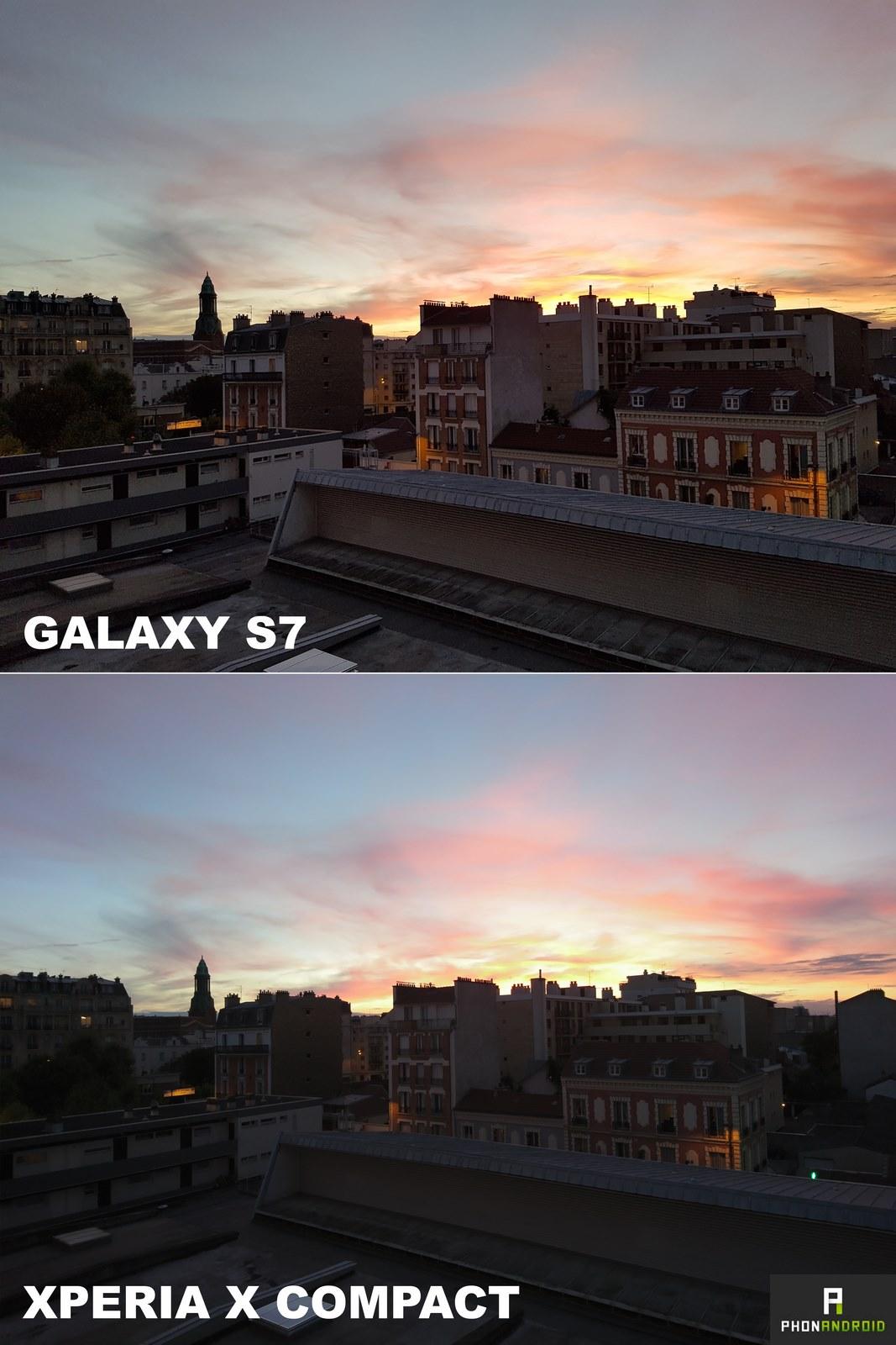 xperia x compact galaxy s7