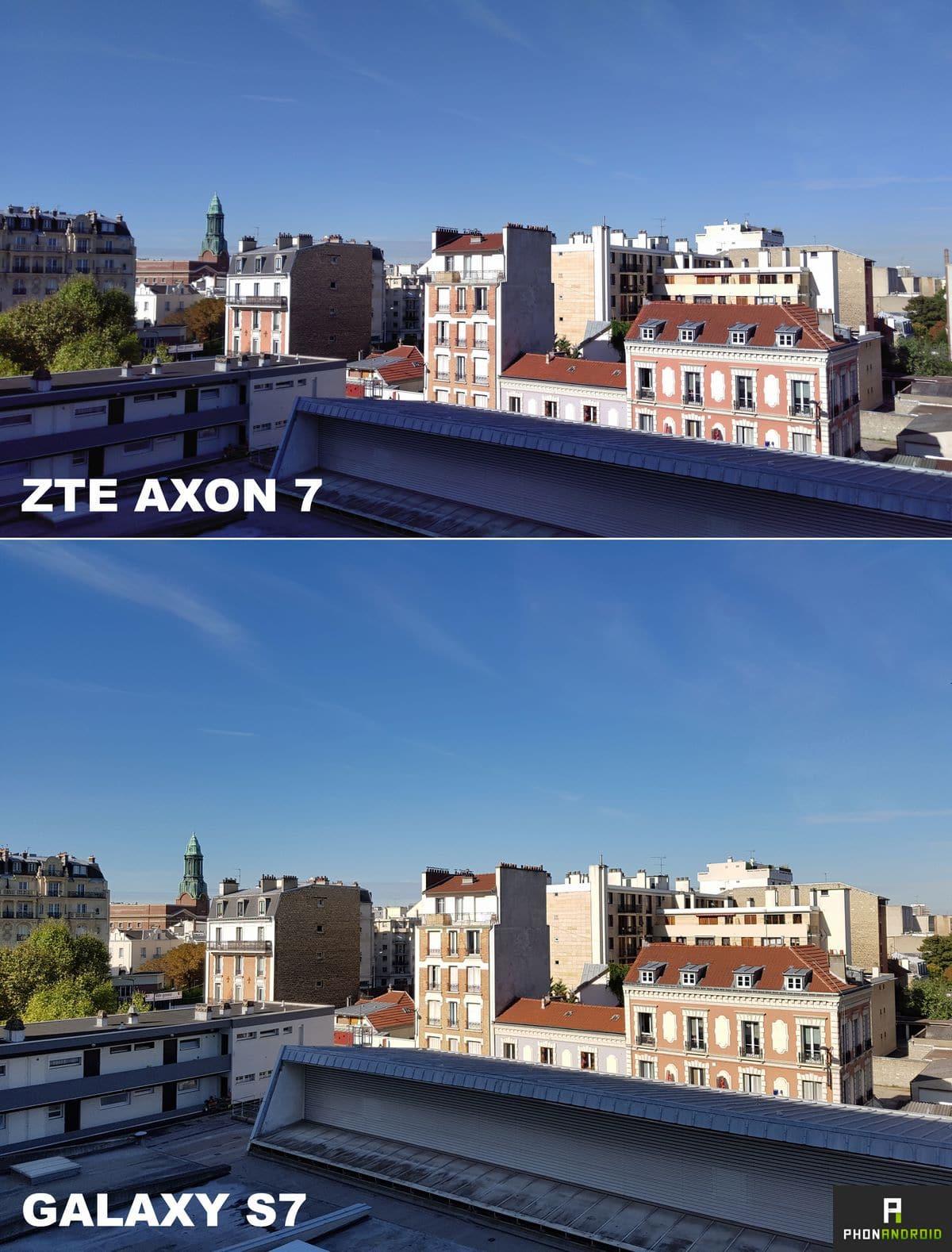 zte axon 7 photo exterieur jour