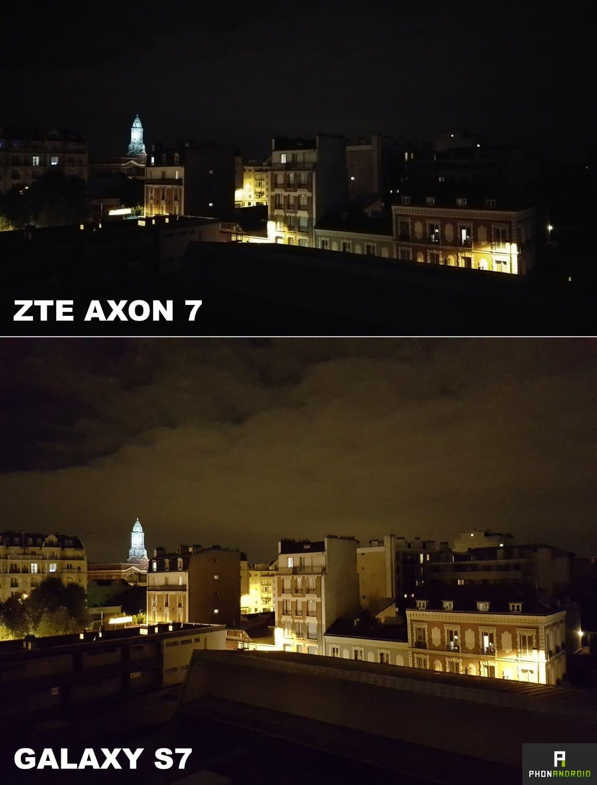 zte axon 7 photo nuit
