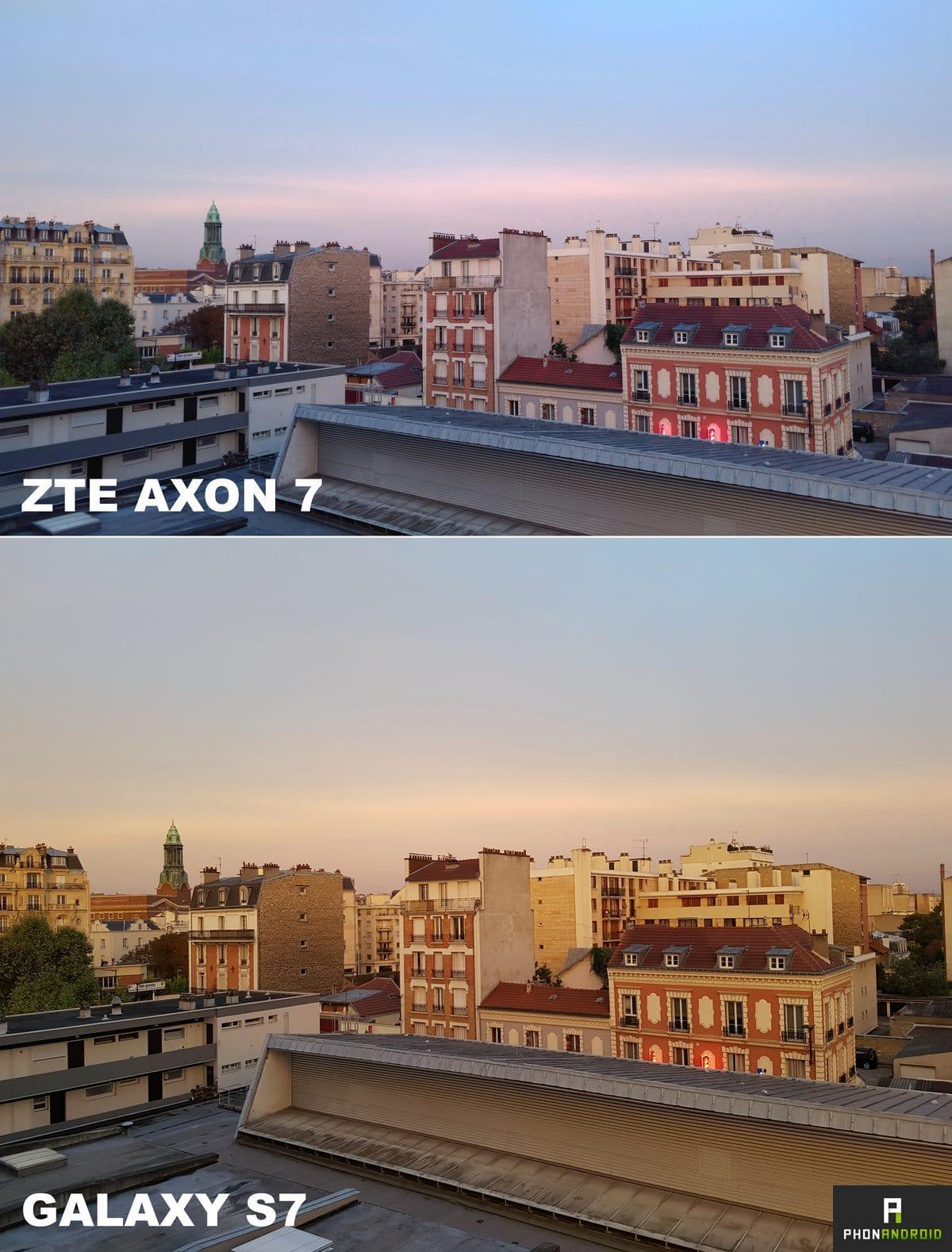 zte axon 7 photo soir