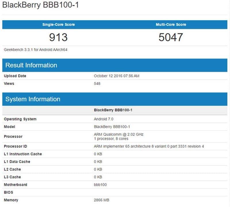 blackberry mercury benchmark