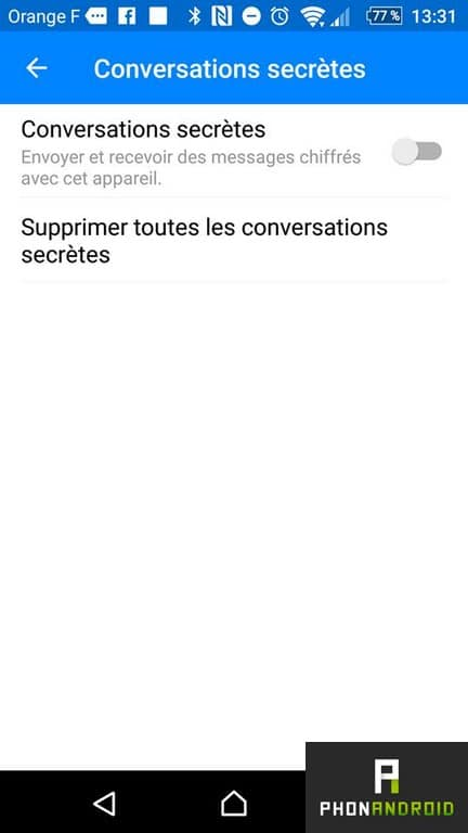 facebook messenger secret