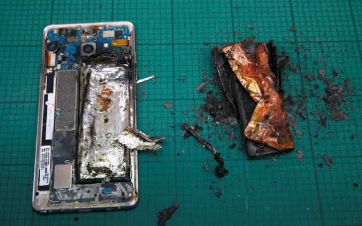 galaxy note 7 brule