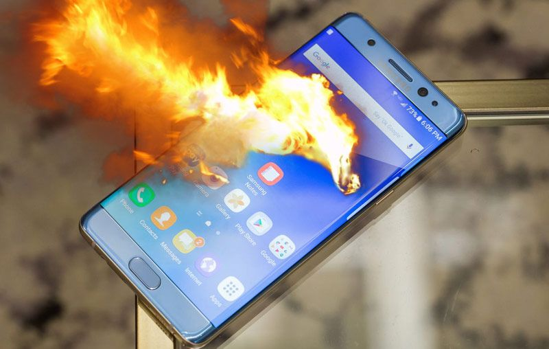 galaxy note 7 flammes