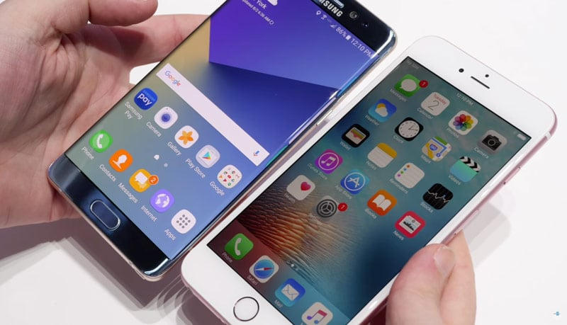 galaxy note 7 iphone ventes