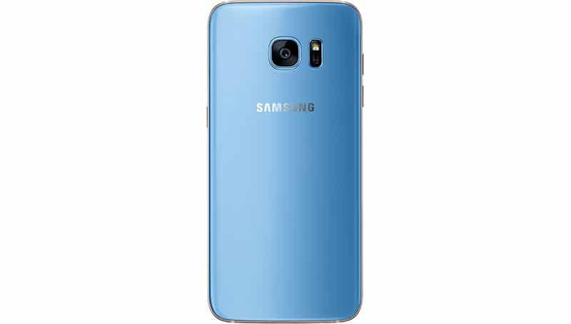 galaxy s7 edge bleu dos