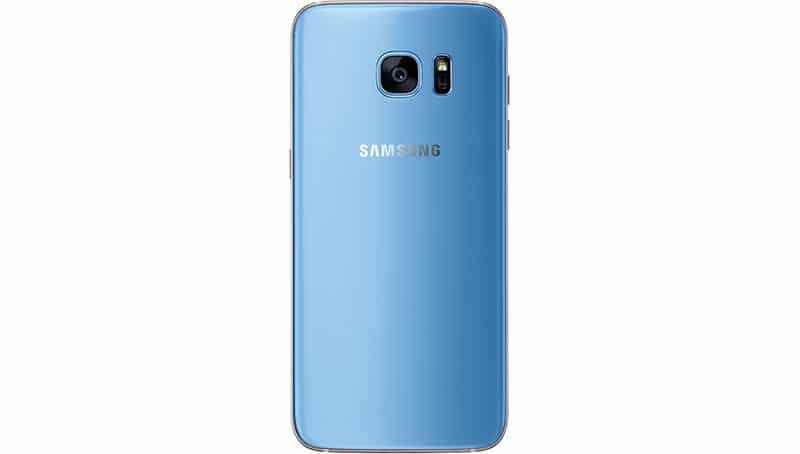 galaxy s7 edge bleu dos
