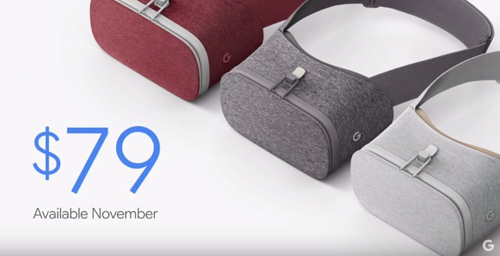 Google Daydream View officiel : casque VR compagnon du Pixel coûte 79 dollars