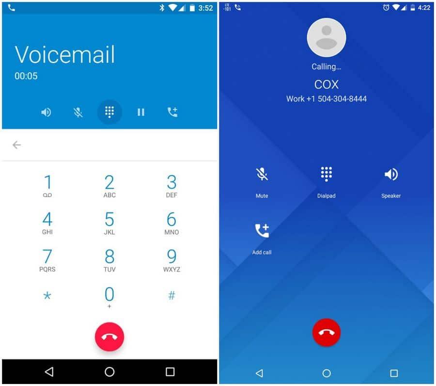 google dialer interface