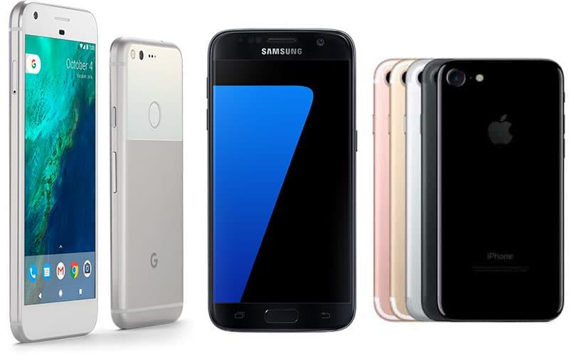google-pixe-vs-galaxy-s7-vs-iphone-7