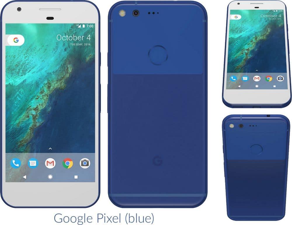 google pixel bleu