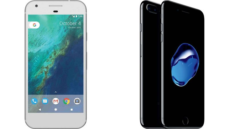 google pixel xl iphone 7 plus