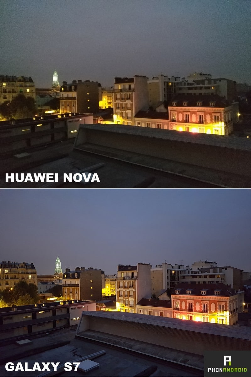 huawei nova photo nuit