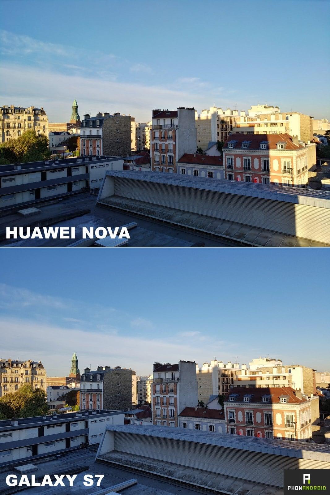 huawei nova vs galaxy s7 photo