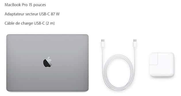 macbook pro cable alimentation