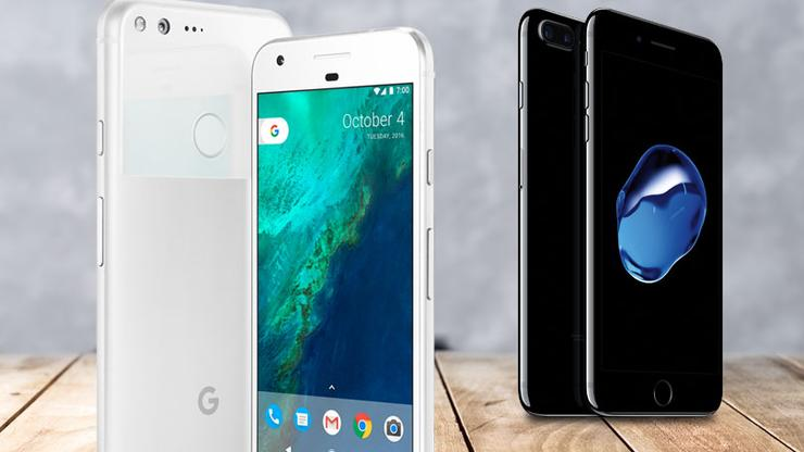 pixel vs iphone 7 speed