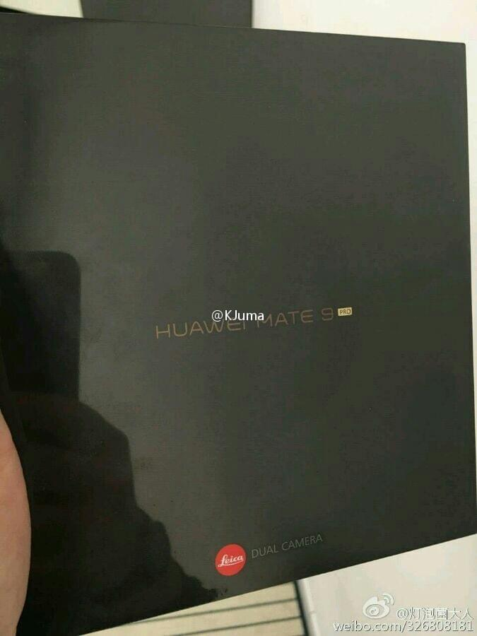huawei mate 9 pro packaging