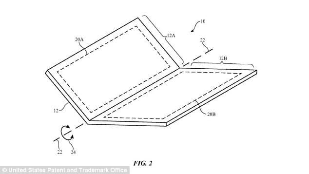 apple brevet iphone pliant
