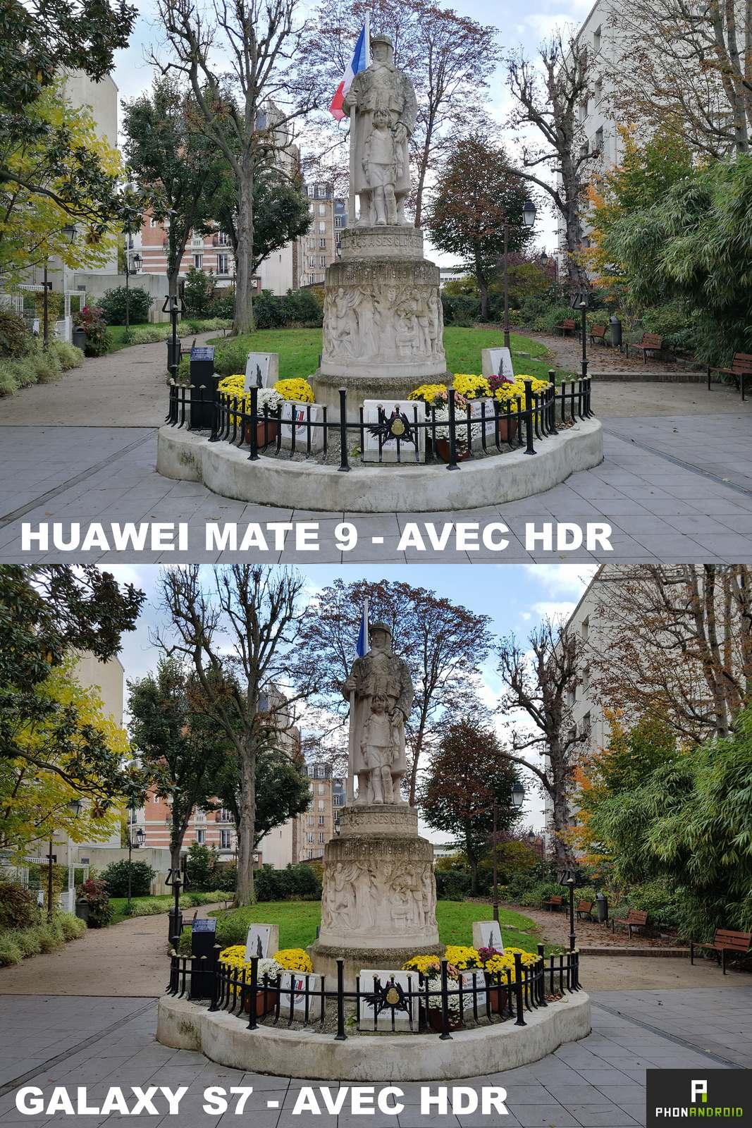 huawei mate 9 galaxy s7 photo hdr