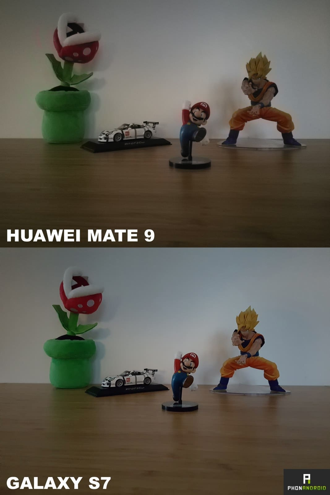 huawei mate 9 galaxy s7 photo sombre