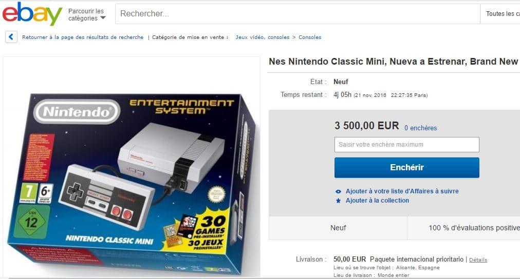 nintendo nes prix ebay